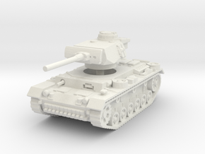 Panzer III L 1/100 in White Natural Versatile Plastic