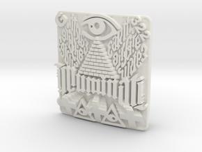 Illuminati Belt Buckle in White Natural Versatile Plastic