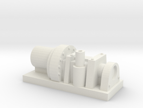 Small industrial style pump in White Natural Versatile Plastic