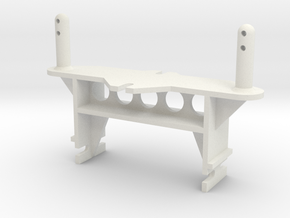 Kyosho Double Dare Front Body Mount in White Natural Versatile Plastic