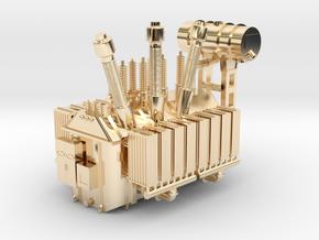 138kV Transformer Assembly in 14K Yellow Gold: 1:160 - N