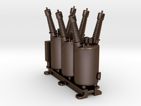 Electrical Substation Circuit Breaker in Polished Bronze Steel: 1:87 - HO