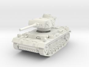 Panzer III M 1/72 in White Natural Versatile Plastic