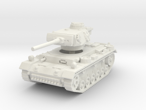Panzer III M 1/120 in White Natural Versatile Plastic