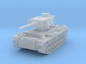 Panzer III M 1/144 in Smooth Fine Detail Plastic