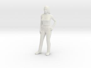 Linda 1/87 scale in White Natural Versatile Plastic
