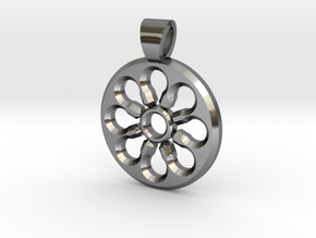 Rosette type 4 [pendant] in Polished Silver
