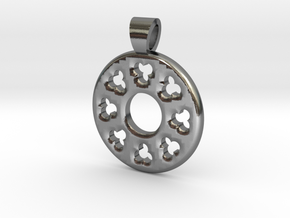 Rosette type 3 [pendant] in Polished Silver