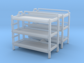 Triple Bunk Bed (x2) 1/120 in Smooth Fine Detail Plastic