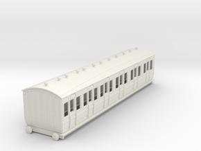 o-76-met-ashbury-bogie-composite-coach in White Natural Versatile Plastic