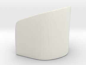 Rounded Chair 1/43 in White Natural Versatile Plastic