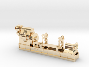 Mesta Machine Roll Turning Lathe in 14k Gold Plated Brass: 1:87 - HO