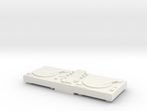 Printle Thing DJ Turntable - 1/24 in White Natural Versatile Plastic