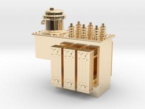 Step Voltage Regulator in 14K Yellow Gold: 1:48 - O