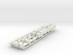Cars Modern (FUD) in White Natural Versatile Plastic: 6mm