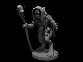 Gnoll Shaman in Smooth Fine Detail Plastic