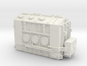 High Voltage Hamliton Transformer Base in White Natural Versatile Plastic: 1:87 - HO