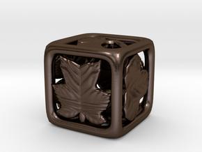 Leaves Die in Polished Bronze Steel