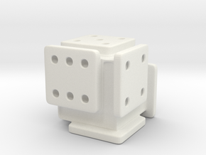 Shifted Die in White Natural Versatile Plastic