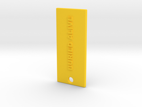 BURIEDALIVEDIVIDED in Yellow Strong & Flexible Polished