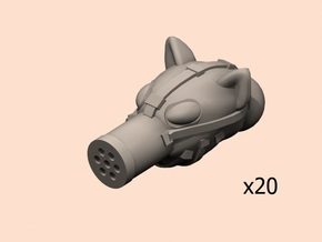 28mm fantasy rodent gas mask x20 in Smoothest Fine Detail Plastic