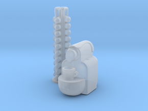 Coffee Machine 01. 1:24 Scale in Smooth Fine Detail Plastic