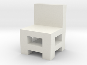 Small chair in White Natural Versatile Plastic: Medium