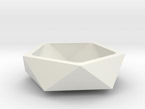 Small bowl in White Natural Versatile Plastic: Medium