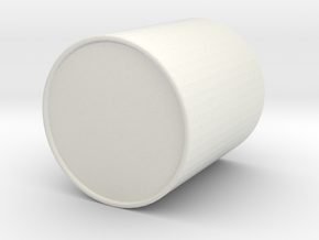 Brush pot in White Natural Versatile Plastic