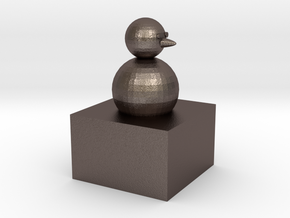 Snowman modeling paperweight in Polished Bronzed-Silver Steel