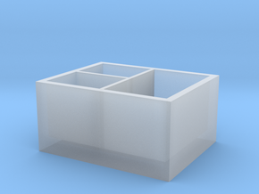 Multifunctional storage box in Smooth Fine Detail Plastic