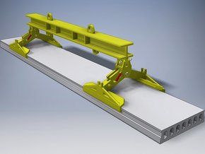 Lifting beam with clamps for Hollow Core Slab 1:50 in White Natural Versatile Plastic