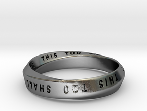 THIS TOO SHALL PASS MOBIUS RING V3 in Polished Silver: 7.75 / 55.875