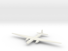 1/285 (6mm) Henschel Hs-130E in White Natural Versatile Plastic