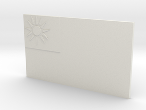 Taiwan flag in White Natural Versatile Plastic