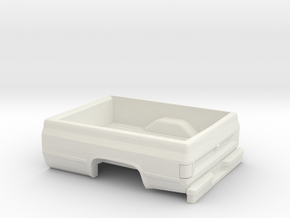 1/64 1982 Chevrolet Silverado Long Bed in White Natural Versatile Plastic