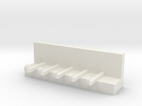 Key ring storage rack in White Natural Versatile Plastic