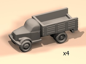 6mm GAZ-51 trucks in Smoothest Fine Detail Plastic
