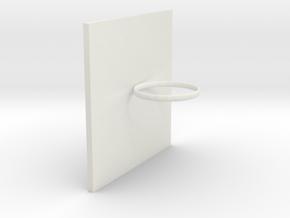 Sticky phone holder in White Natural Versatile Plastic