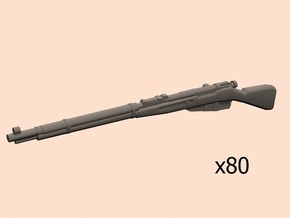 28mm Mosin rifle 80 pack in Smoothest Fine Detail Plastic