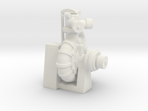 1/35th Darley Fire Pump front mount in White Natural Versatile Plastic