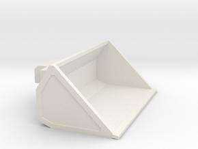 1/64th High capacity low density skid steer bucket in White Natural Versatile Plastic