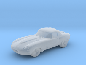 Jaguar E-type lightweight 5cm in Smooth Fine Detail Plastic