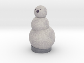Coal The Snow Man in Full Color Sandstone