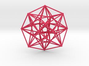 4D Vector Equilibrium Metatron's Compass 50mm -  in Pink Processed Versatile Plastic