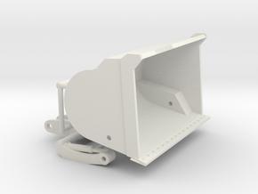 1/64th High Tip Front End Loader Bucket in White Natural Versatile Plastic