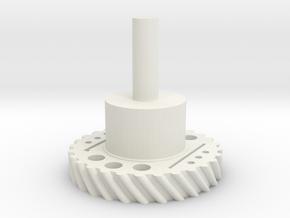 GearRot2 in White Natural Versatile Plastic
