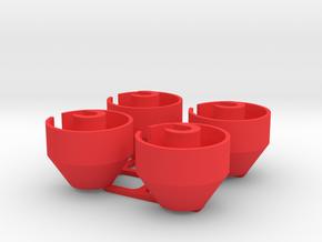 Capra Shock Bottoms w/limiters in Red Processed Versatile Plastic