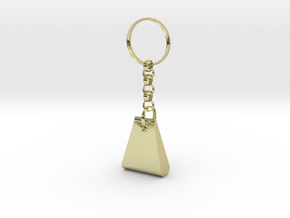 key ring in 18k Gold Plated Brass