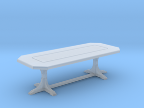 Cafe table. rectangular. 1:48 in Smooth Fine Detail Plastic